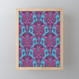 Hand drawn paisley motif illustration. Framed Mini Art Print