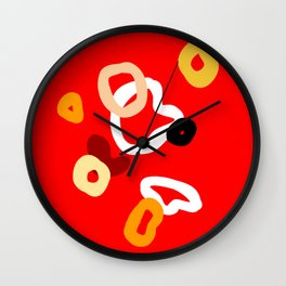playful red Wall Clock