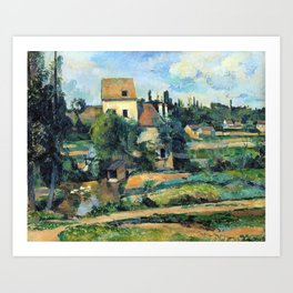 1881 - Paul Cezanne - Mill on the Couleuvre at Pontoise Art Print