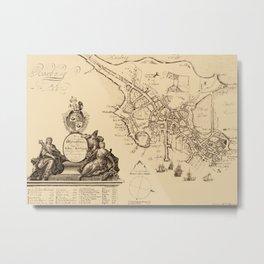 Map Of Boston 1728 Metal Print