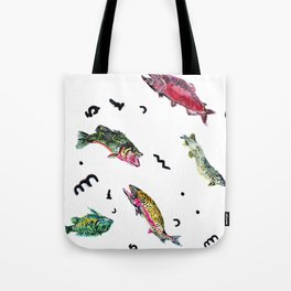fishing in troubled waters Tote Bag