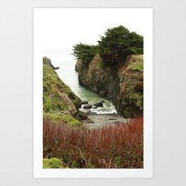 Sea Cove Mendocino : Point Cabrillo Art Print