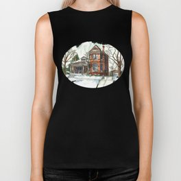 Victorian House in The Avenues Biker Tank