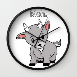 Meh. Goat of indifference. Wall Clock