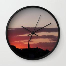 Sunset  - JUSTART © Wall Clock