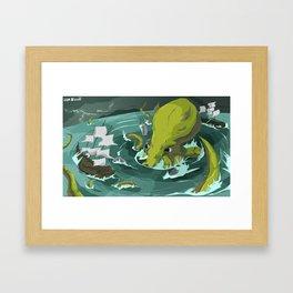 Release the Kracken  Framed Art Print