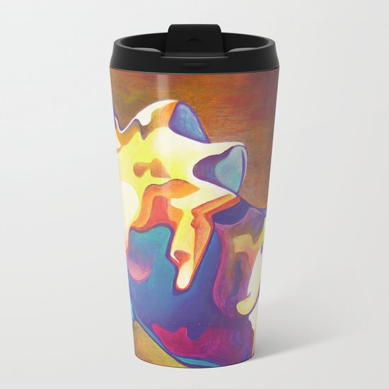 The United Colours of Orgasm Thermal Nude Metal Travel Mug