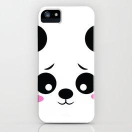 Panda Funny Pregnancy Announcement iPhone Case