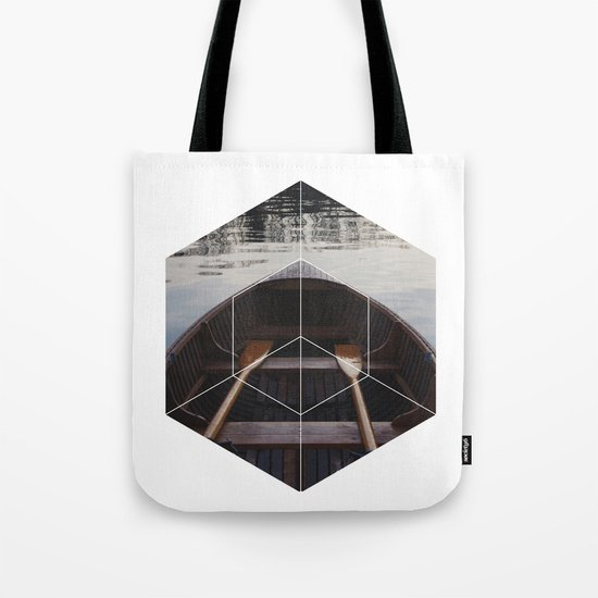 Peace of Mind Boat - Geometric Photography Tote Bag