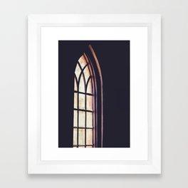 Soft Light Shining through a Church Window Framed Art Print