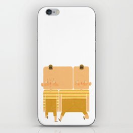 Tweedledum and Tweedledee iPhone Skin