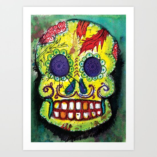 Spoiled Sugar Skull Art Print