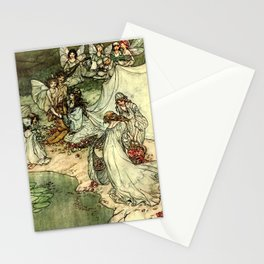 """""""Titania"""" by Arthur Rackham From Shakespeare Stationery Cards"""