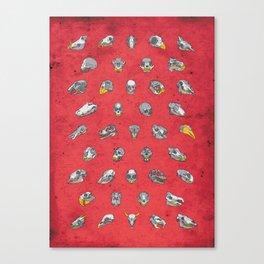 No. 41 - Skulls - Red Variant Canvas Print