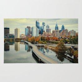 Philadelphia Fall Skyline Rug