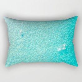 Swimming And Surfing In Manhattan Beach Rectangular Pillow