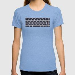 Computer Keyboard Buttons Silhouette T-shirt