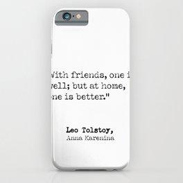 Leo Tolstoy, Anna Karenina, quote 9 iPhone Case
