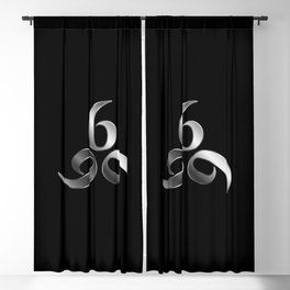 666- the number of the beast or angel symbol or devils number Blackout Curtain