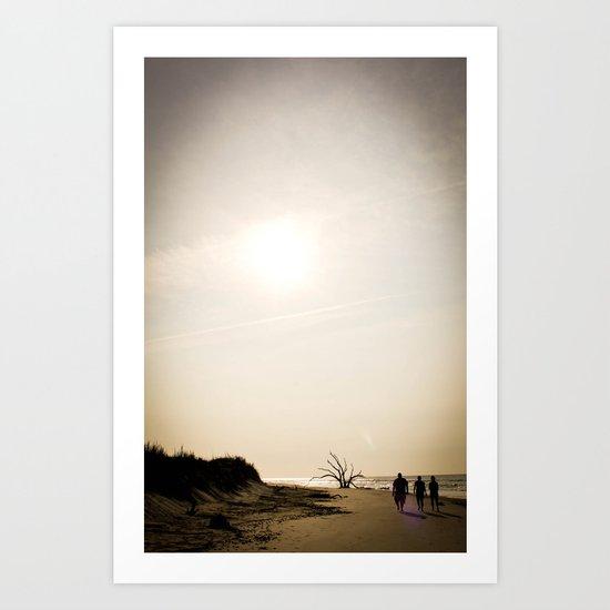 Stroll along the Beach Art Print