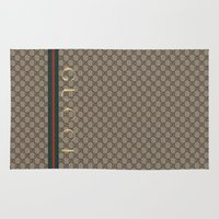 gucci Area & Throw Rugs featuring Gucci Class by Goldflakes