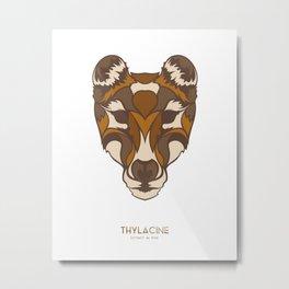 Thylacine Metal Print