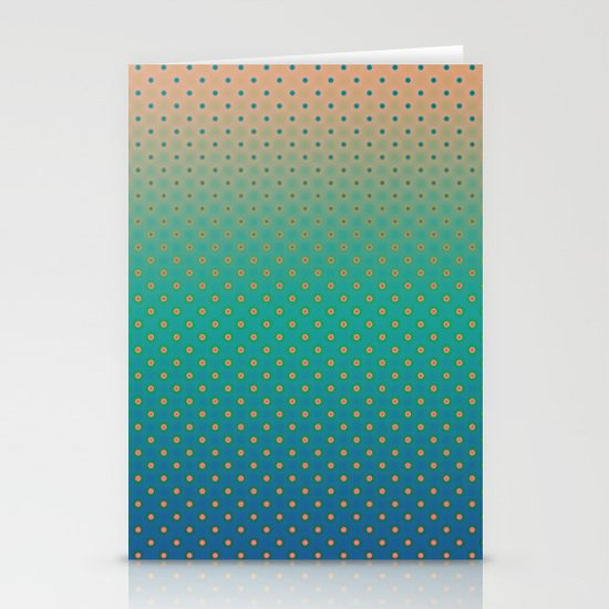 Polka Plankton Blue Stationery Cards