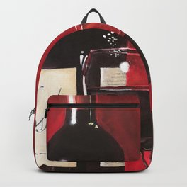 Red Wine, Still Life Backpack