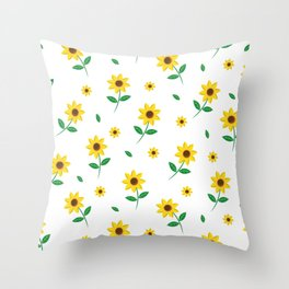 Tiny Sunflowers Throw Pillow