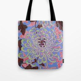 Beaded Chrysanthemum Tote Bag