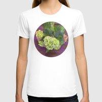 hydrangea T-shirts featuring hydrangea by Federico Faggion