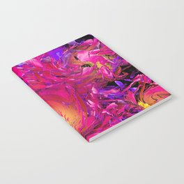PEONY IN JUNE ABSTRACT Notebook