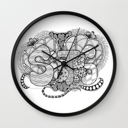 Zentangle Sisters Illustration Wall Clock