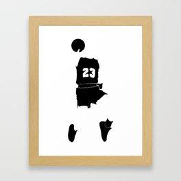 Faceless Basketball MJ Jordan Framed Art Print