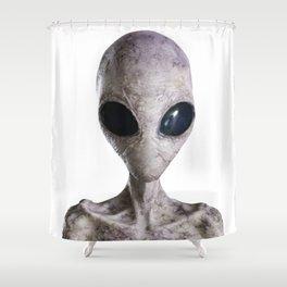 white alien from Jupiter Shower Curtain