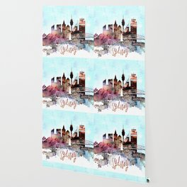 Sydney watercolor skyline design Wallpaper