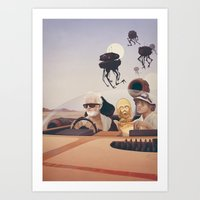 fear and loathing Art Prints featuring Fear and Loathing on Tatooine by Anton Marrast