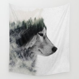 Wolf Stare Wall Tapestry