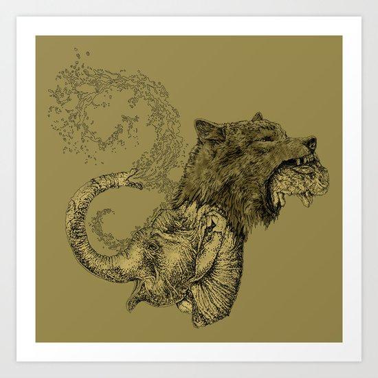 Elewolf Art Print