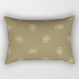 Seamless background carnivore dinosaur foot print gender neutral baby pattern. Rectangular Pillow
