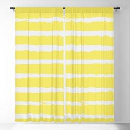 Irregular Stripes Yellow Blackout Curtain
