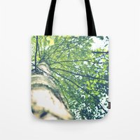birch Tote Bags featuring Birch by nadja-elli