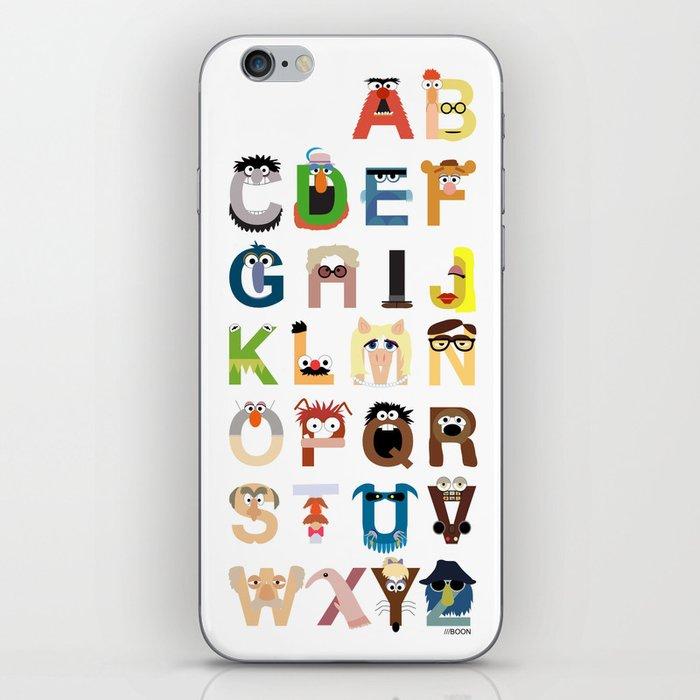 Muppet Alphabet iPhone Skin