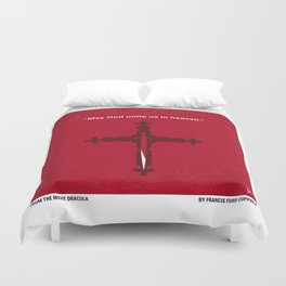 No263 My DRACULA minimal movie poster Duvet Cover