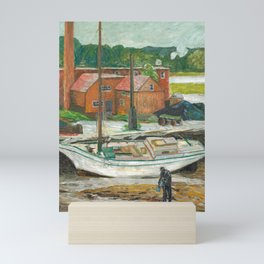 Oyster Sloop, Cos Cob, 1902 by Childe Hassam Mini Art Print