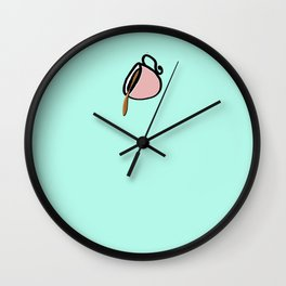 The Coffee Cup: Over Spilled Coffee Wall Clock
