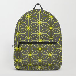 Hemp seed in grey and yellow Backpack