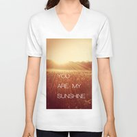 you are my sunshine V-neck T-shirts featuring You Are my Sunshine by Olivia Joy St.Claire - Modern Nature / T
