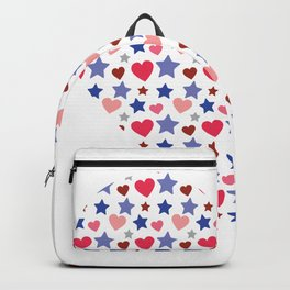 Heart from many little hearts and stars Backpack