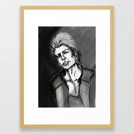 In the shadows Framed Art Print